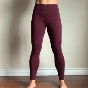 Maroon Lululemon Leggings Size 4 Brand new